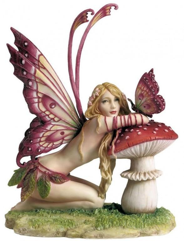 Photo of Fairy and Mushroom Figurine (Selina Fenech) 17cm
