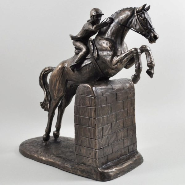 Photo of Female Show Jumper Cold Cast Bronze Sculpture by Harriet Glen