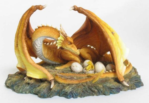 Photo of Fire Dragon and her Brood Figurine