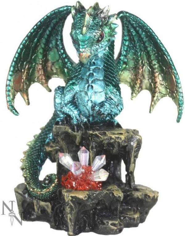 Photo of Green Dragon Figurine (Alator) Light Feature 16cm