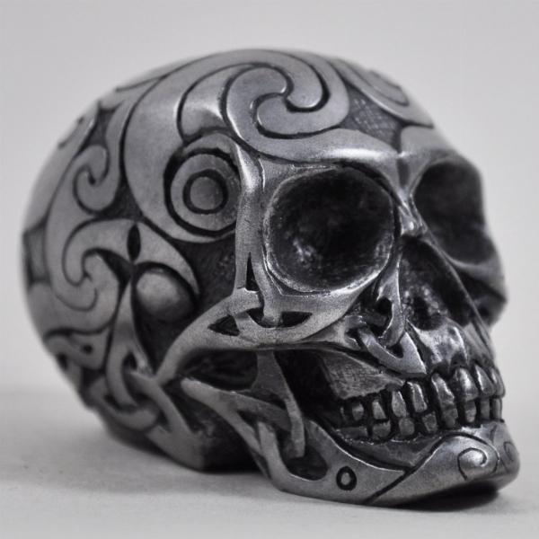 Photo of Gun Metal Celtic Design Small Skull