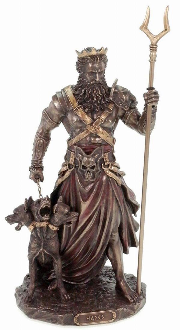 Hades Greek God of the Underworld Figurine | Bronze Gifts