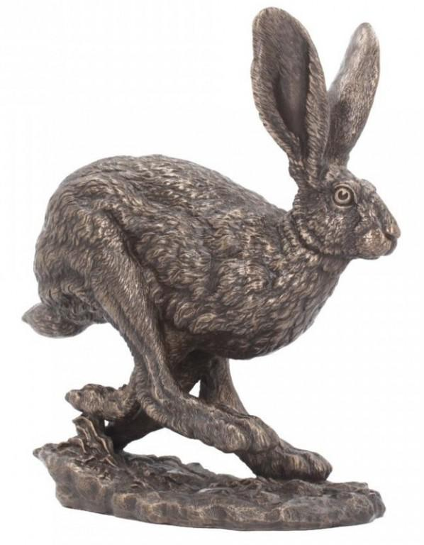Photo of Hare Running Bronze Figurine (Andrew Bill)