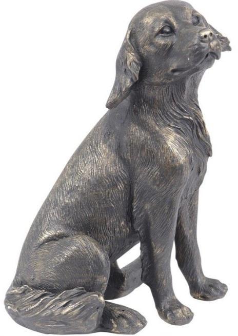 Photo of Labrador Antique Bronze Finish Figurine