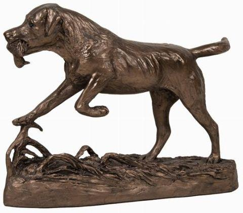 Photo of Labrador Retrieving Duck Bronze Figurine