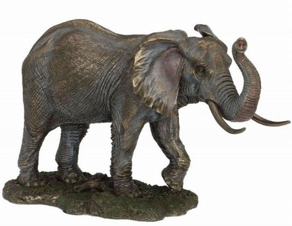 Photo of Large Bronze Elephant Standing 33cm