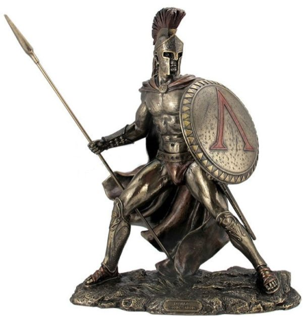Photo of Leonidas King of Sparta Bronze Figurine Large
