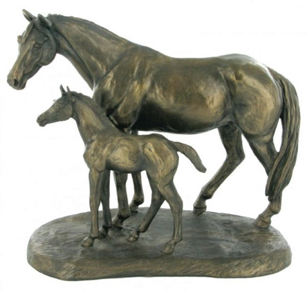 Photo of Mare and Foal Horse Figurine (Harriet Glen)