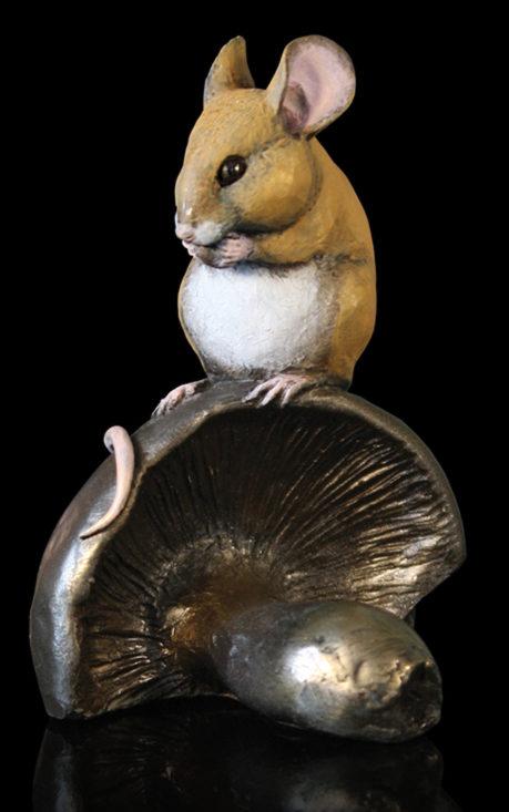 Photo of Mouse on Mushroom Bronze Figurine Michael Simpson