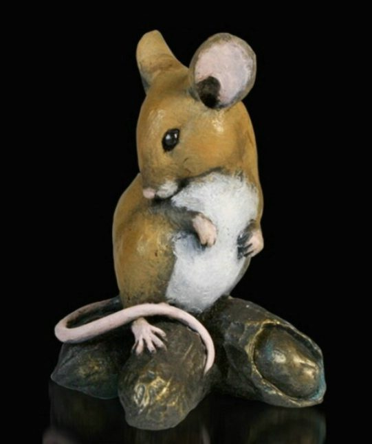 Photo of Mouse with Monkey Nuts Bronze Figurine Michael Simpson
