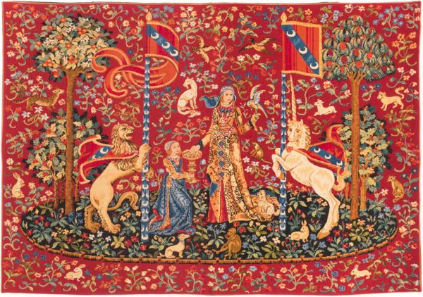 Phot of My Only Desire Medieval Wall Tapestry