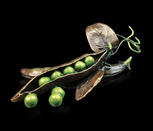 Photo of Pea Pod Bronze Sculpture (Limited Edition) Keith Sherwin Nature Trail