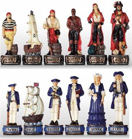 Photo of Pirates vs Navy Chess Set