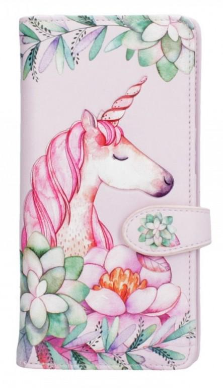 Photo of Pretty in Pink Embossed Unicorn Purse 18cm