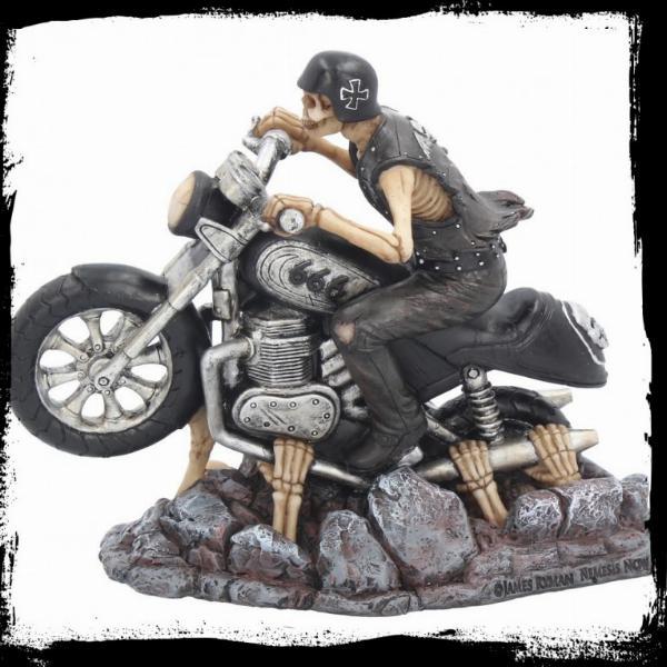 Photo of Ride out of Hell Skeleton Biker Figurine James Ryman 18cm