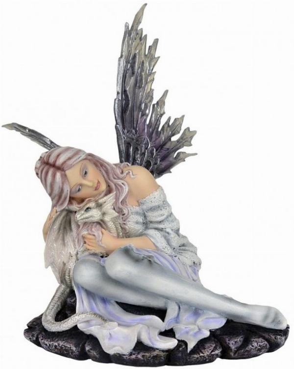 Photo of Snow Fairy and Wisdom Dragon Figurine 31cm