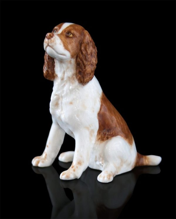 Photo of Springer Spaniel Hand Painted Fine Bone China Miniature Figurine