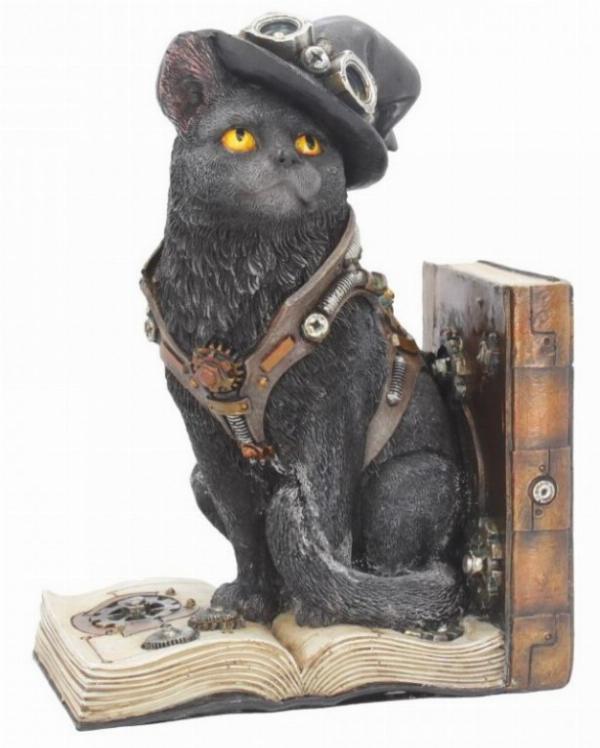 Photo of Steampunk Cat Bookend Figurine
