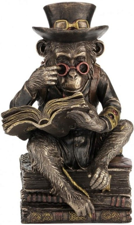 Photo of Steampunk Chimpanzee Darwin Figurine 19.5cm