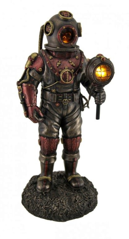 Photo of Steampunk Mariners Descent Bronze Figurine Light Feature 27cm