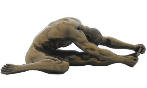 Photo of Stretching Nude Male Figurine