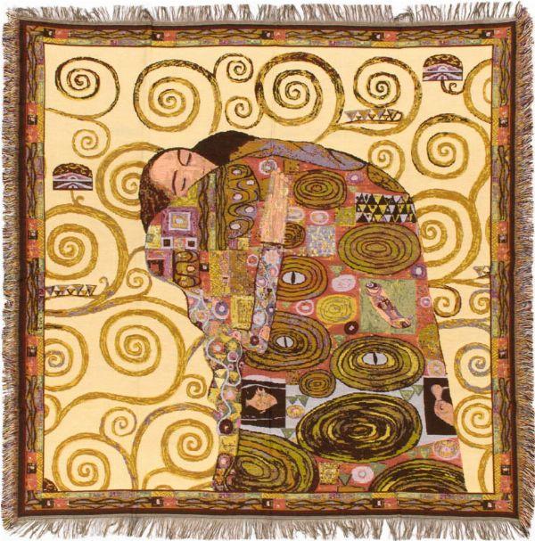 Phot of The Accomplishment By Gustav Klimt Tapestry Throw