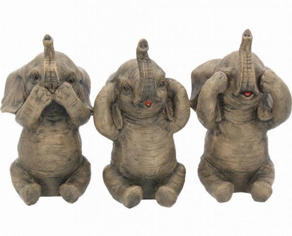 Photo of Three Wise Elephants Set of 3 Figurines 16 cm