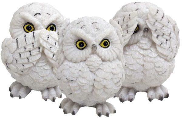 Photo of Three Wise Owls Figurine 8cm (Set of 3)