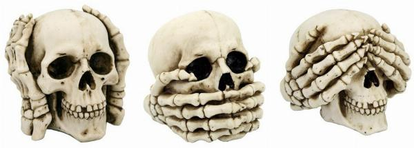 Photo of Three Wise Skulls Ornaments 11cm