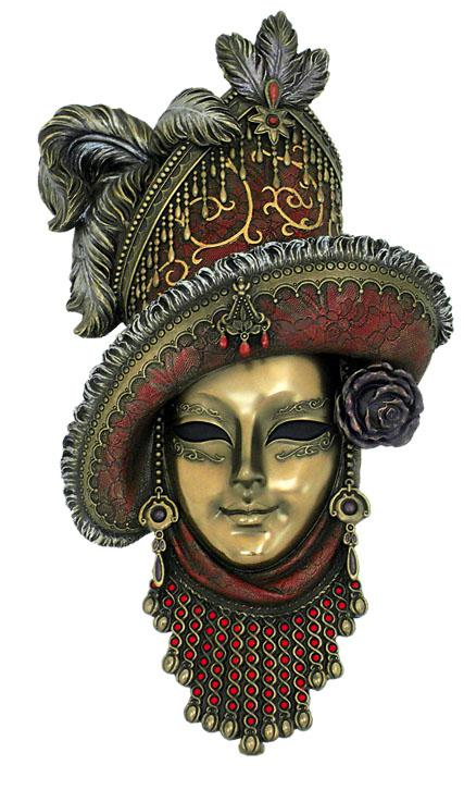 Photo of Venetian Mask Red Hat Wall Decor (Genesis Fine Arts)