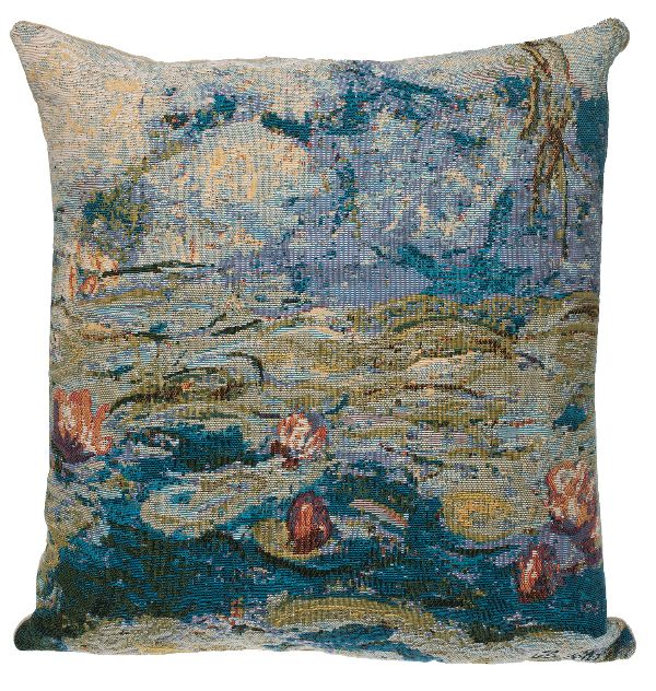 Phot of Water Lilies By Monet Tapestry Cushion I