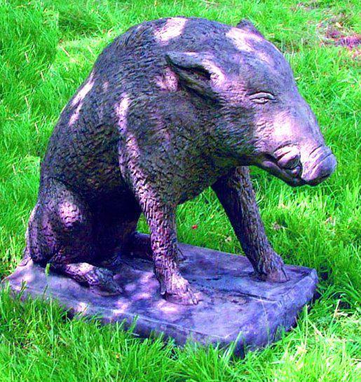 Photo of Wild Boar Stone Garden Sculpture