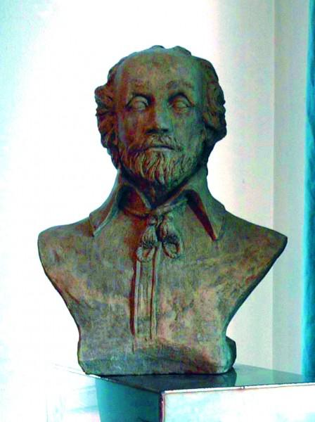 Photo of William Shakespeare Stone Bust