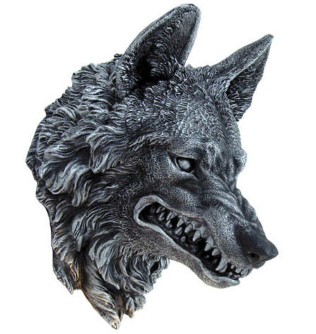 Photo of Wolf Head Wall Plaque 30 cm