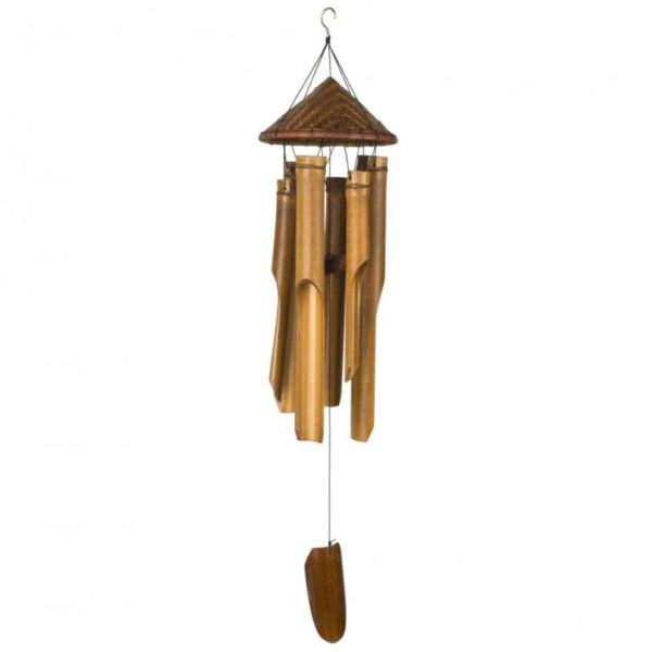 Photo of Woven Hat Bamboo Chime Woodstock Bamboo