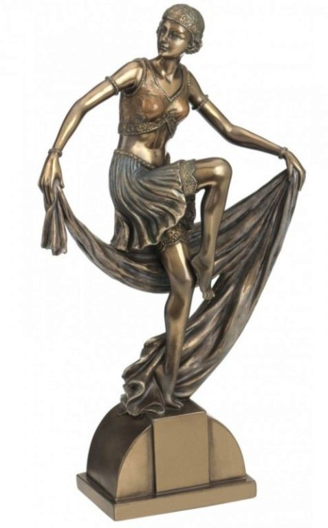Photo of Art Deco Lady Dancing with Scarf 24 cm