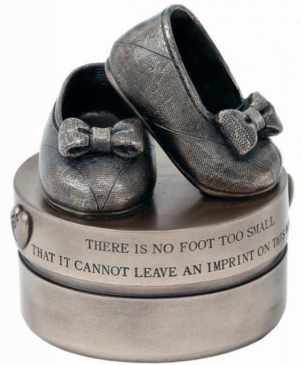 Photo of Baby Girl Booties Bronze Trinket Box Genesis