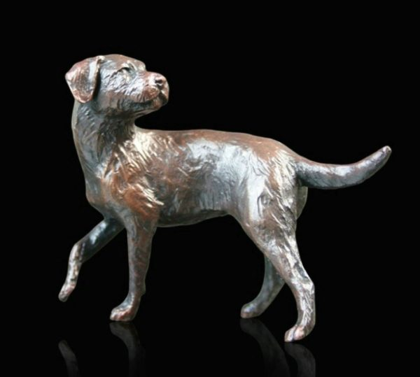 Photo of Border Terrier Bronze Figurine (Limited Edition) Michael Simpson