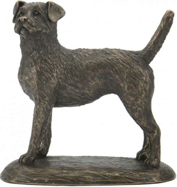 Photo of Border Terrier Bronze Sculpture (Harriet Glen)
