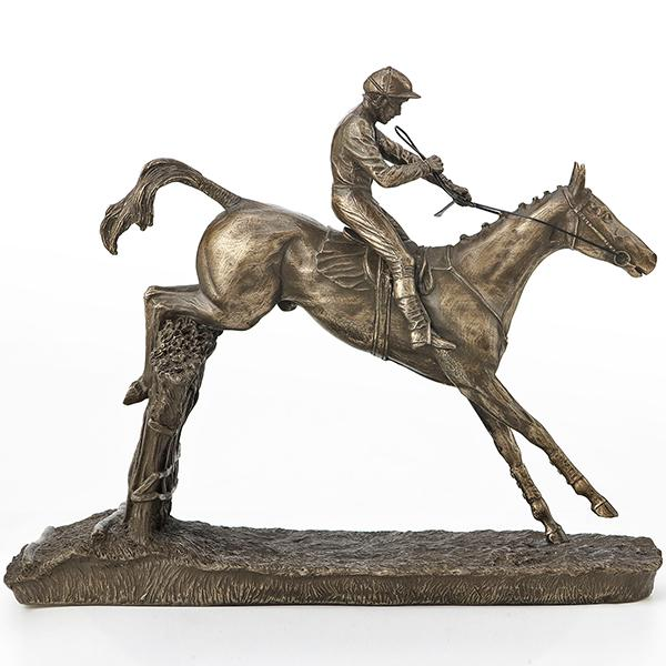 Photo of Clearing The Last Horse Racing Figurine Medium (David Geenty)