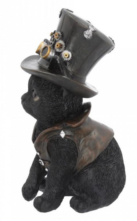 Photo of Cogsmiths Cat Steampunk Kitty Figurine
