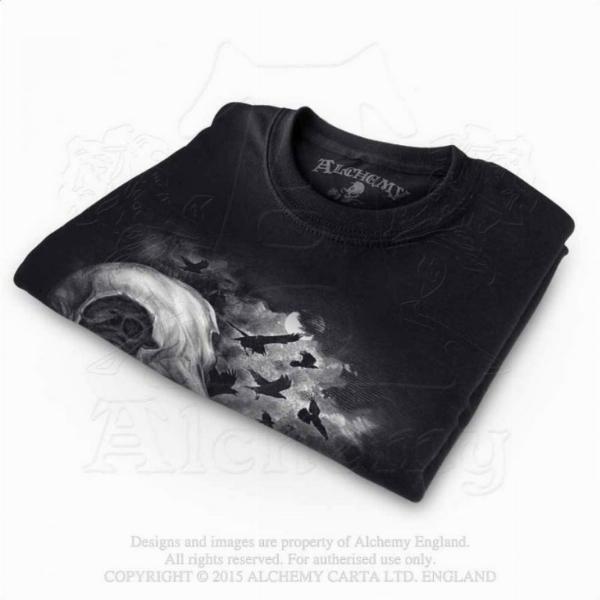 Photo of Corvinculus Raven Skull T Shirt Alchemy Gothic