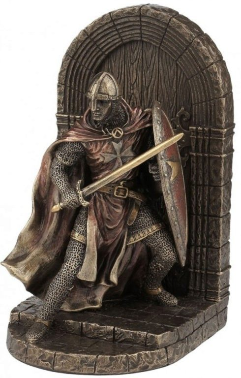 Photo of Crusader Bookend Bronze 19.5cm