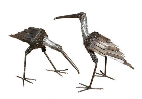 Photo of Curlew Bird Metal Garden Ornament (Upright)