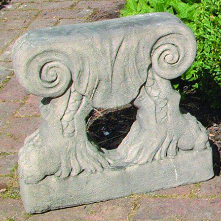 Photo of Curved Top Scroll Bases Stone Bench
