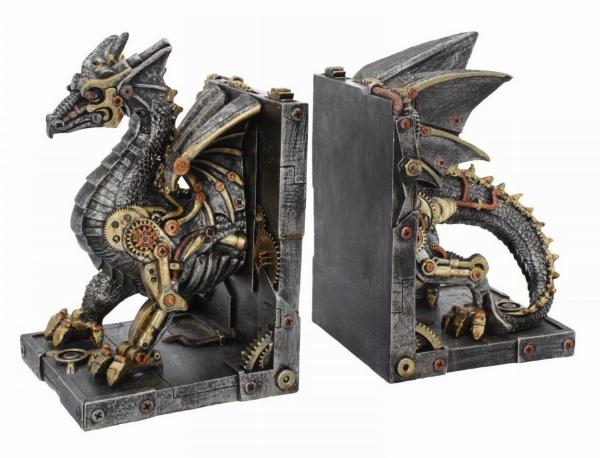 Photo of Dracus Machina Steampunk Dragon Bookends
