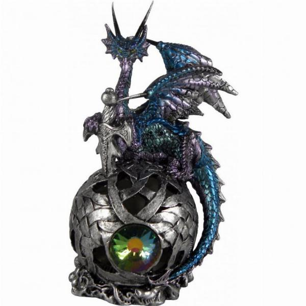 Photo of Eye Of Belgaroth Dragon on Orb Light Feature Figurine (Alator) 21 cm