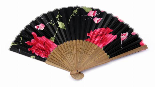 Photo of Floral Mixed Designs Japanese Fan (Set of 3)