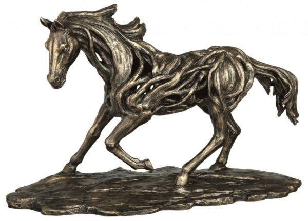 Photo of Free Spirit Contemporary Bronze Horse Figurine Large 50cm
