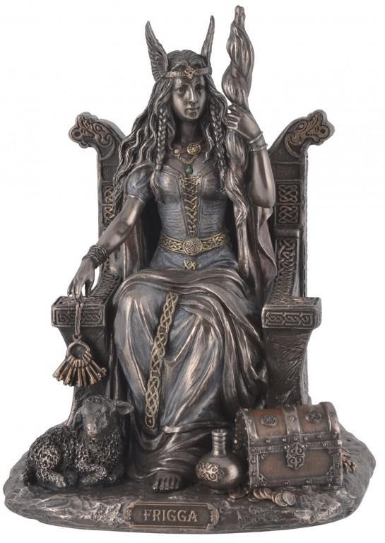 Photo of Frigga Goddess Bronze Figurine